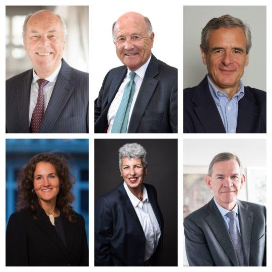 v.l.n.r. Michael Grau, Gunter Mengers, Jochen Spethmann, Korinna Steffen, Minou Tikrani, Reinhold von Eben-Worlée